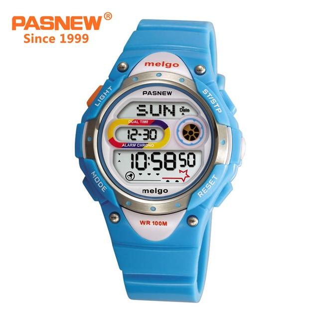 PASNEW девушки цифровые часы 100 м водонепроницаемый плавательный секундомер девушка спортивные часы дети часы для девочек 2001D