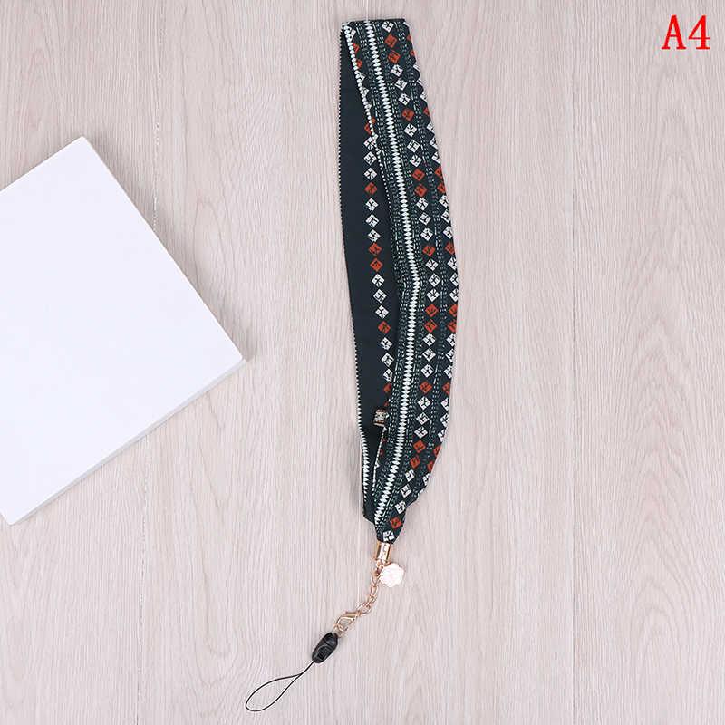 Correa de cuello de cordón de bambú de flamencos para llaves tarjeta de identificación para Huawei USB insignia titular DIY cuerda colgante correa de teléfono móvil de dibujos animados de la cinta