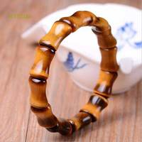 KYSZDL Natural Tiger Eye Stone Bamboo Bracelet Men And Women Models Crystal Hand Chain Jewelry Gifts
