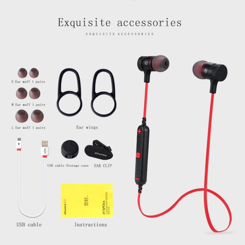 Wireless Bluetooth Headphone With Mic Magnetic Earpiece Stereo Sweatproof Headset Sport Bass Earphone for iPhone X Xiaomi Phone plufy bluetooth earphone headphone wireless speaker sport headphone bass stereo headset noise cancelling for iphone xiaomi l29