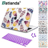 For New MacBook Air Pro Retina 11 12 13 15 for Macbook Pro 13 15 2017 2018 A1708 A1989 Floral Feather Print Laptop Case Cover