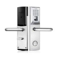Биометрический Дверной замок отпечатков пальцев, пароль, механический ключ цифровой код замок без ключа lk903FS