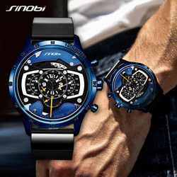 2019 SINOBI Creative Design Men Watch Fashion Military Sports Chronograph Watches For Men Male Big Dial Clock relogio masculino