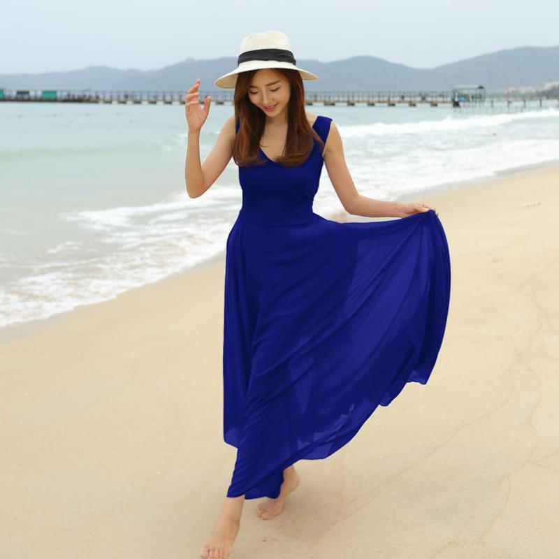 Blue Beach Dress