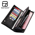 teemzone Mens Top Genuine Leather Casual Purse Brand New SD Slot  Latest Design Leather Wallet Business Men Checkbook 2 Colors