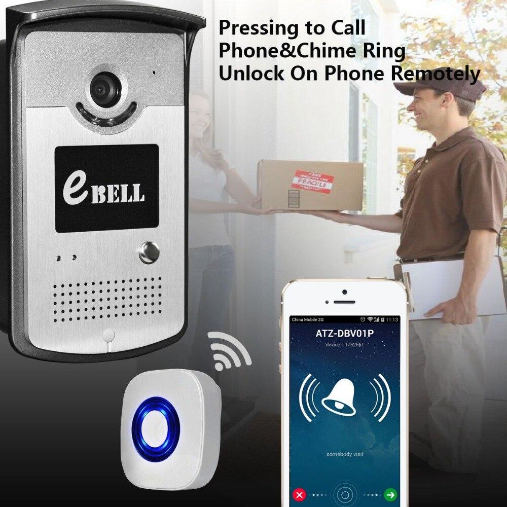 433mhz Indoor Bell  Wireless Intercom WIFI Doorbell 720P Motion Detection Video Door Phone wifi version video door phone motion detection hd 720p wireless intercom ip doorbell