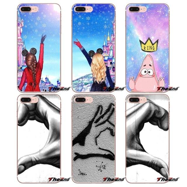 Для samsung Galaxy S9 плюс Примечание 8 One Plus oneplus 5 T Meizu M5s LG V30 htc U11 Губка Боб queen принцессы best друзья чехол
