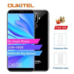 Oukitel K5 4G 5.7 inch 18:9 Display MTK6737T Mobile Phone Android 7.0 2G 16G Quad Core 4000mAh 3 Cameras Fingerprint Smart phone
