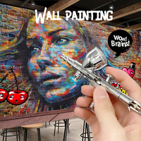 Spray Gun Mini Silver Car Airbrush Painting Spraying Tool Beautiful Pen Art Painting Tattoo Nail Art Spray Model Nail Makeup