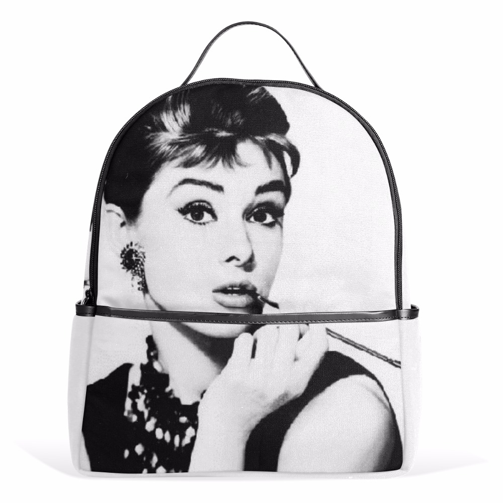 Unicreate Classic Audrey Hepburn Women Fashion Bags Book Bag Canvas Backpack Travel Daypack backpacks for teenage girls Notebook winner brand fashion unique design women book bag ladies backpack bags canvas schoolbag backpacks for teenage girls