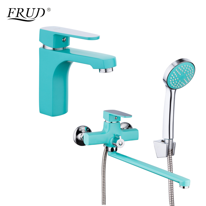 FRUD New Arrival Bathroom Combination Basin Faucet and Shower Faucet Single Handle Cold and Hot Water Mixer R10303-2+R22303FRUD New Arrival Bathroom Combination Basin Faucet and Shower Faucet Single Handle Cold and Hot Water Mixer R10303-2+R22303