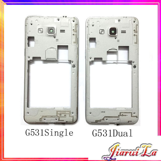 the latest 3c8c5 6cd4e US $3.25 11% OFF|New Middle Plate Frame Bezel For Samsung Galaxy Grand  Prime G531 Housing Cover Case With Power Volume Button Key-in Mobile Phone  ...