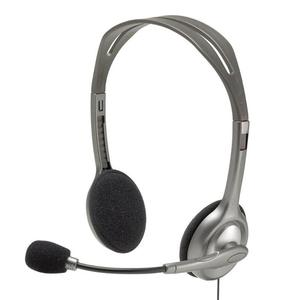 Image 1 - Logitech H110/H111 casque stéréo avec Microphone 3.5mm casque filaire casques découte pour gamer gaming musique appelant