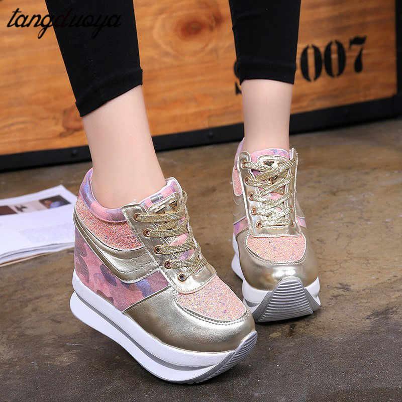 Спортивная обувь; женская обувь на танкетке; женские кроссовки на массивной платформе; женская спортивная обувь; zapatillas mujer deportiva