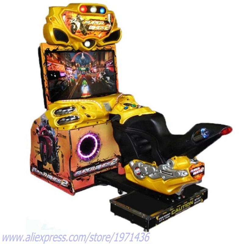 Coin Operated Game Machine FF Motorbike Driving Simulator Motor Bike Racing Games image