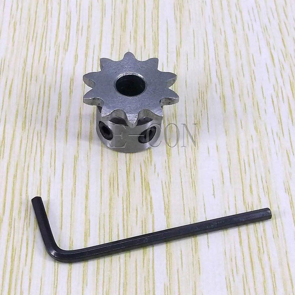 1pcs 6mm Bore 10 Teeth 10T Metal Pilot Motor Gear Roller Chain Drive Sprocket