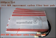 600 stks/partij, 2019 NIEUWE carbon fiber autostoel warmte pads