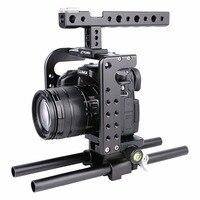 YELANGU Pour Panasonic Lumix DMC-GH5 Caméra Stabilisateur De Poche De Protection Vidéo Caméra Cage + Top Poignée Kit Film Système De Prise