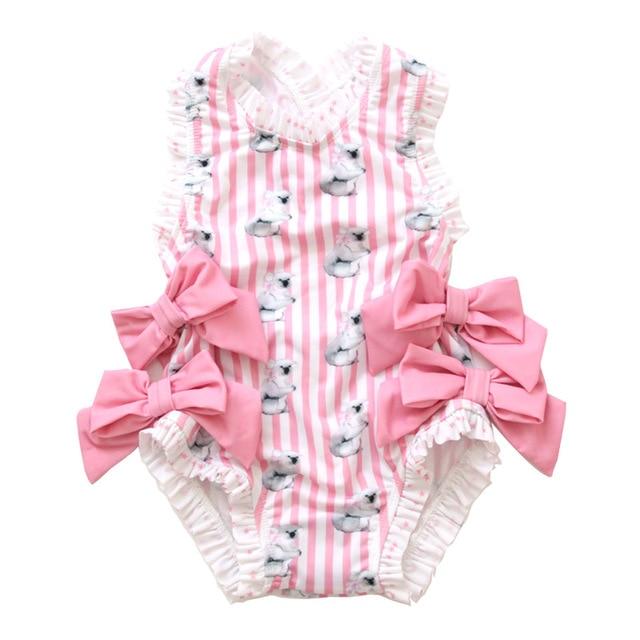 6e9c748188b85 Spanish Baby Swimwear Girls Toddler Girls Rash Guard Bathing Suit Soft  Cotton Baby Girl One Piece Outfit Summer Bikini with Bows