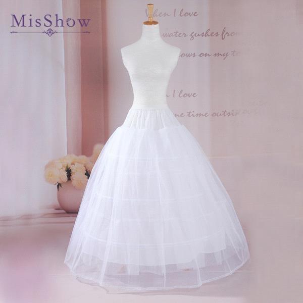 MisShow New Cheap Ball Gown 2-Layers Underskirt Wedding Petticoats Wedding Accessories Crinoline Petticoat Wedding Skirt