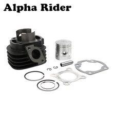 47Mm Cilinder Zuiger Big Bore Kit Set Voor Yamaha Minarelli 1E40QMB 70cc Jog 50