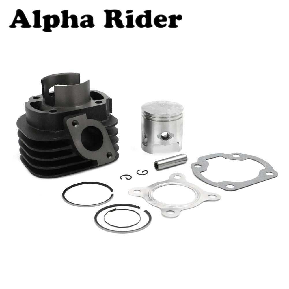 47mm Cylinder Piston Big Bore Kit Set For Yamaha Minarelli 1E40QMB 70cc JOG 50