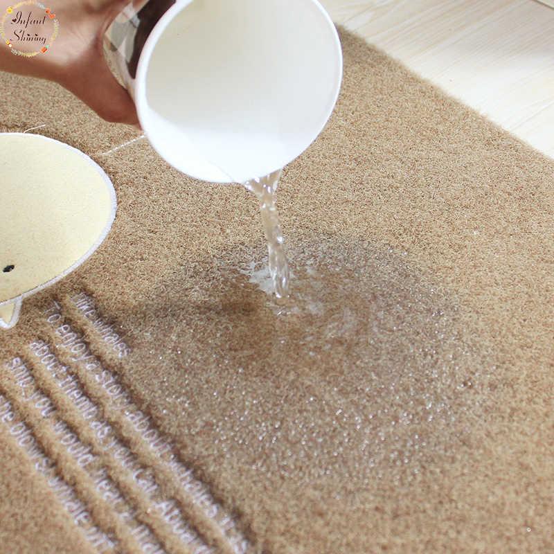 Niemowlę Shining 2 sztuk maty podłogowe antypoślizgowe wody wchłanianie oleju dywan długie kuchnia drzwi łazienka Mat drzwi mata