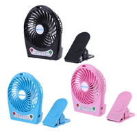 1PCS Portable Rechargeable Black Fan Air Cooler Mini Operated Desk By USB Charging Or 18650 Battery