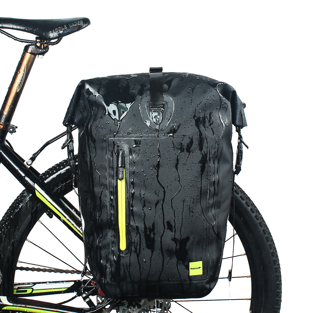 Mountain Bike pack waterproof and rain-resistant large-capacity shelves long-distance ride wagon rear seat package equipment bag roswheel mtb bike bag 10l full waterproof bicycle saddle bag mountain bike rear seat bag cycling tail bag bicycle accessories