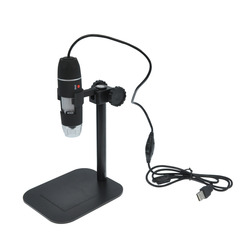 Usb cyfrowy mikroskop z aparatem led elektroniczny endoskop elektronowy 500X okulary lupa lupa lupy okulary biurko czarny nowa