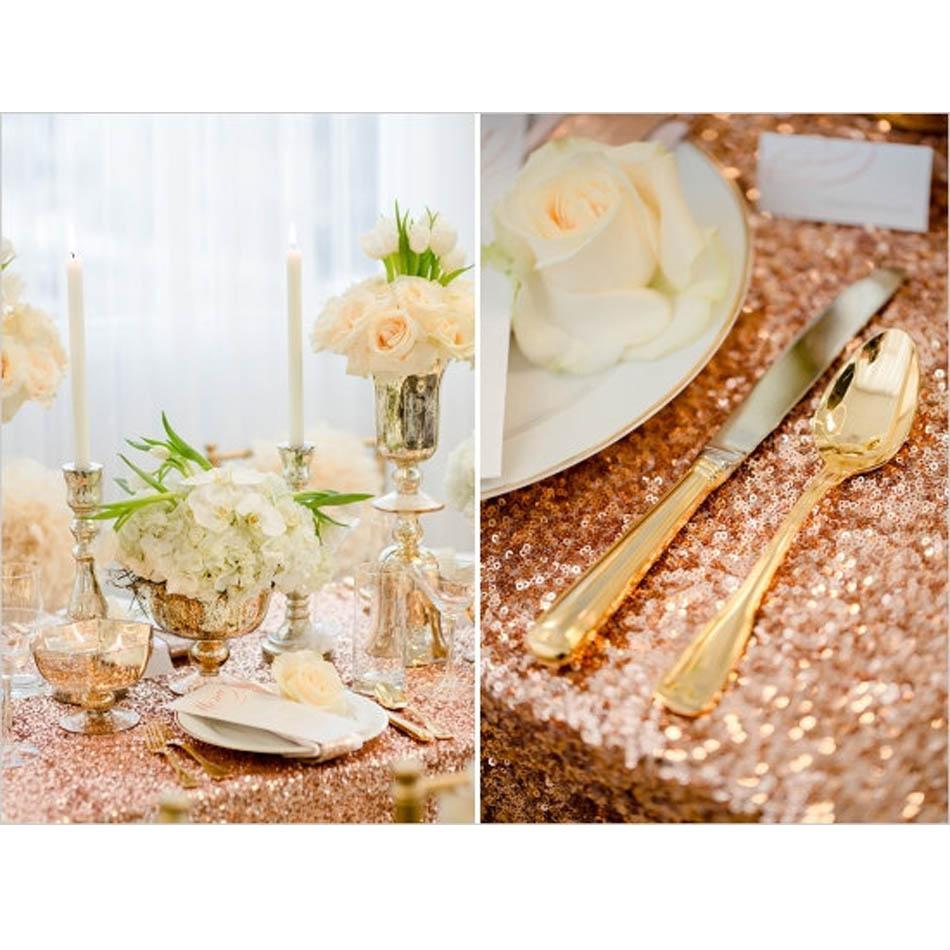 2018 блеск розового золота прямоугольный блесток скатерть 90 дюймов x 132 дюймов для свадебного торта Скатерть блесток столовое белье украшения