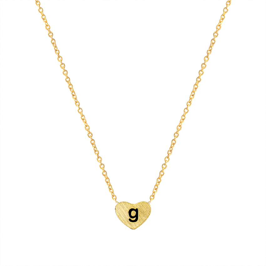 g letter necklace