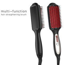 Cheap price New Digital Electric Ion Hair Straightener Brush Comb Detangling Straightening Irons Hair Styling Tool