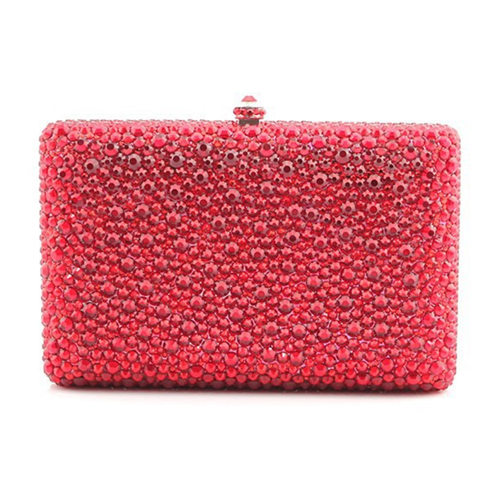 XIYUAN BRAND Crystal Evening Bag Beaded Day Clutches Lady Wedding Purse Rhinestones Handbags Silver Black Evening Clutch bag red crystal evening bag beaded day clutches lady wedding purse rhinestones wedding handbags silver black evening clutch bags