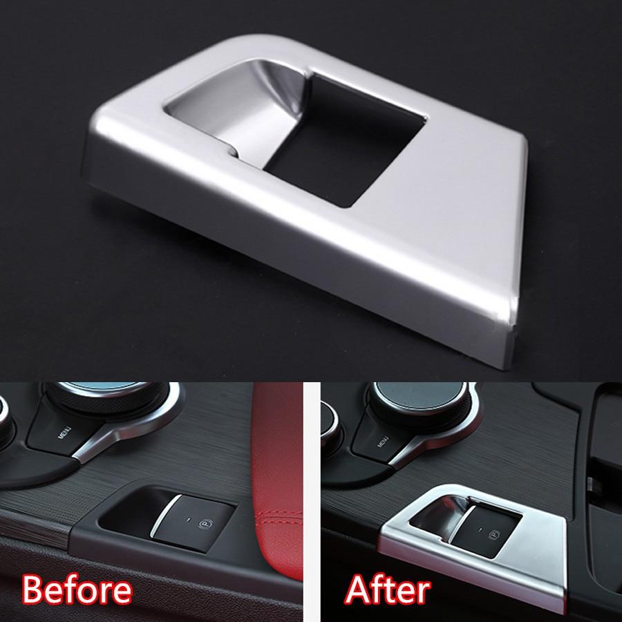 YAQUICKA Car Interior Electric Handbrake Hand Brake Cover Trim Styling For Alfa Romeo Giulia 2017 Chrome ABS Interior Accessory