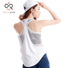 Sexy Black White Women Sports Vest Sleeveless Shirts Vest Fitness Running Clothes Loose Quick Dry Sport Tank Top P017