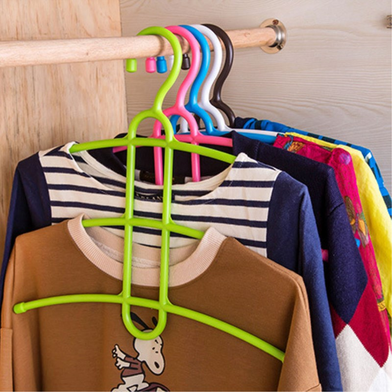 Three Layer Anti-skid Plastic Racks of Fishbone Clothes Hanger Clothes Rack Multifunctional Wardrobe Clothes Hanging number