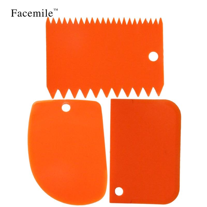 3 teile / satz küche zubehör kunststoff fondant kuchen dekorieren tools glattes werkzeug backen pastry spatel 51059 geschenk