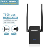 Dual band 2.4G+5 GHZ wi fi Network Router WIFI Repeaters Amplifier Wireless Client Bridge extender 750Mbps Booster,EU/US Plug