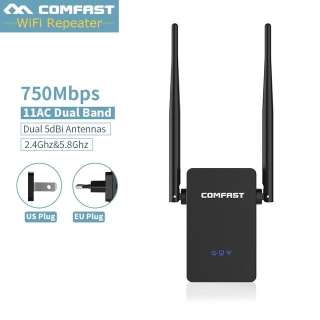 "Dual band 2.4G + 5 GHZ wi-fi רשת נתב WIFI Repeaters מגבר אלחוטי לקוח גשר extender 750 300mbps בוסטרים, האיחוד האירופי/ארה""ב Plug"
