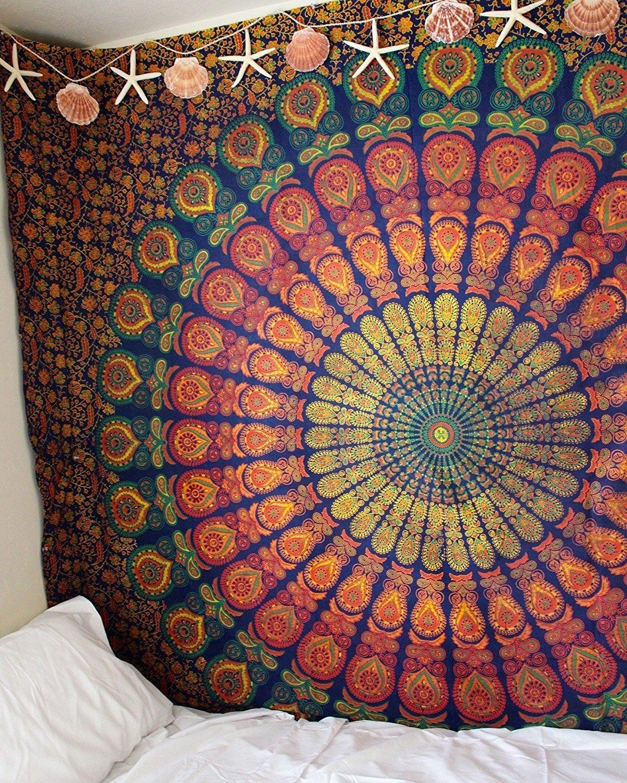 Large Size Polyester Fabric Indian Mandala Wall Hanging