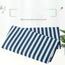 50X150CM Ten Linen Canvas Blue Stripe Fabrics Household Desktop Background Cloth цены онлайн