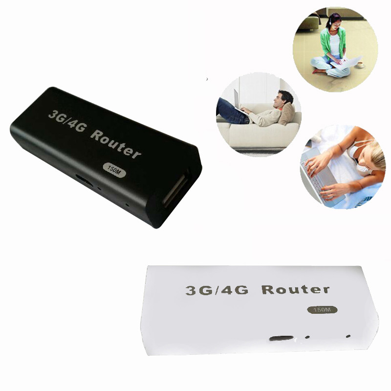 3G / 4G WiFi Wlan Hotspot AP Client 150Mbps RJ45 USB Wireless Router For Mac, iOS, Windows, Linux, Android(China)