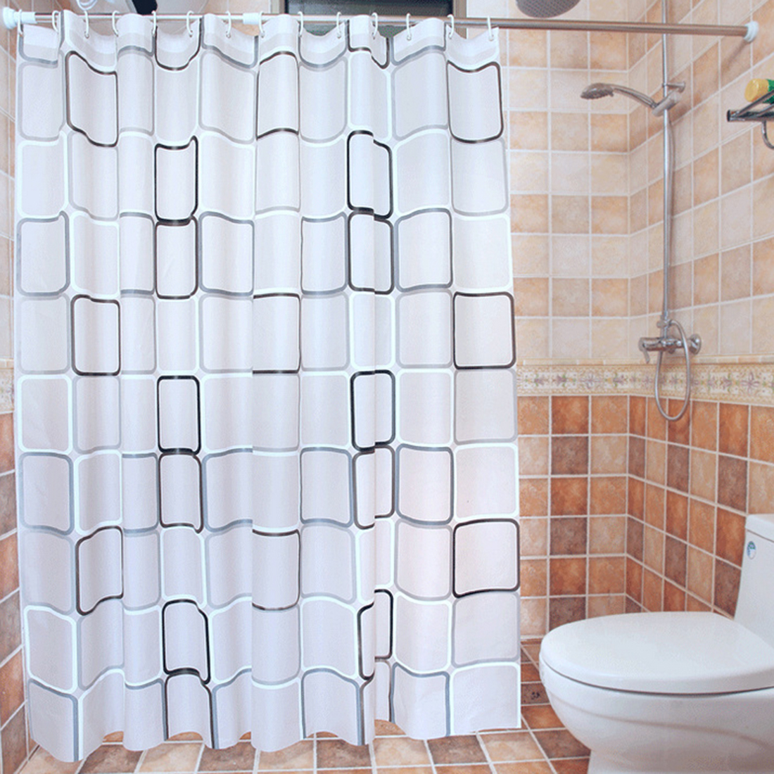 Clear fish shower curtain - Cl Clear Fish Shower Curtain High Quality Peva Thicken Waterproof Bath Curtain Eco Friendly Shower