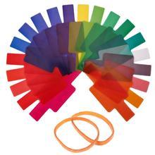 ALLOET 20 шт Вспышка Speedlite цветные гелевые фильтры для Canon Yongnuo камера фотографический гели фильтр Вспышка Speedlite Speedlight