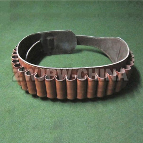 ФОТО  WW2 China Army Leather Tactical Shotgun Shell Hunting Belt 25 Round Ammo Pouch CN/104360