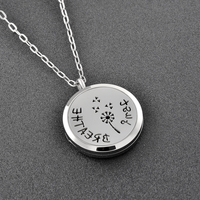 Ijp0177 Free Pads Women Fashionable Patterns Flower Perfume Essential Oil Diffuser Pendant Necklace