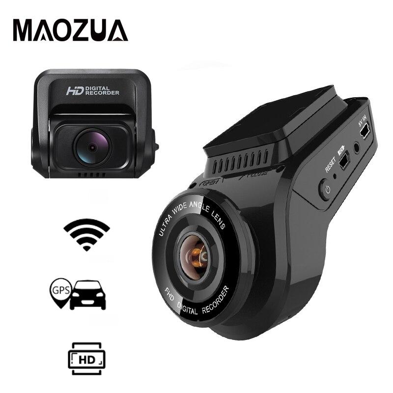 Maozua автомобиля регистраторы 2160 P К 4 к Ultra HD P с 1080 сзади камера Wi Fi gps Logger ADAS двойной объектив Dashcam dvr ночное видение