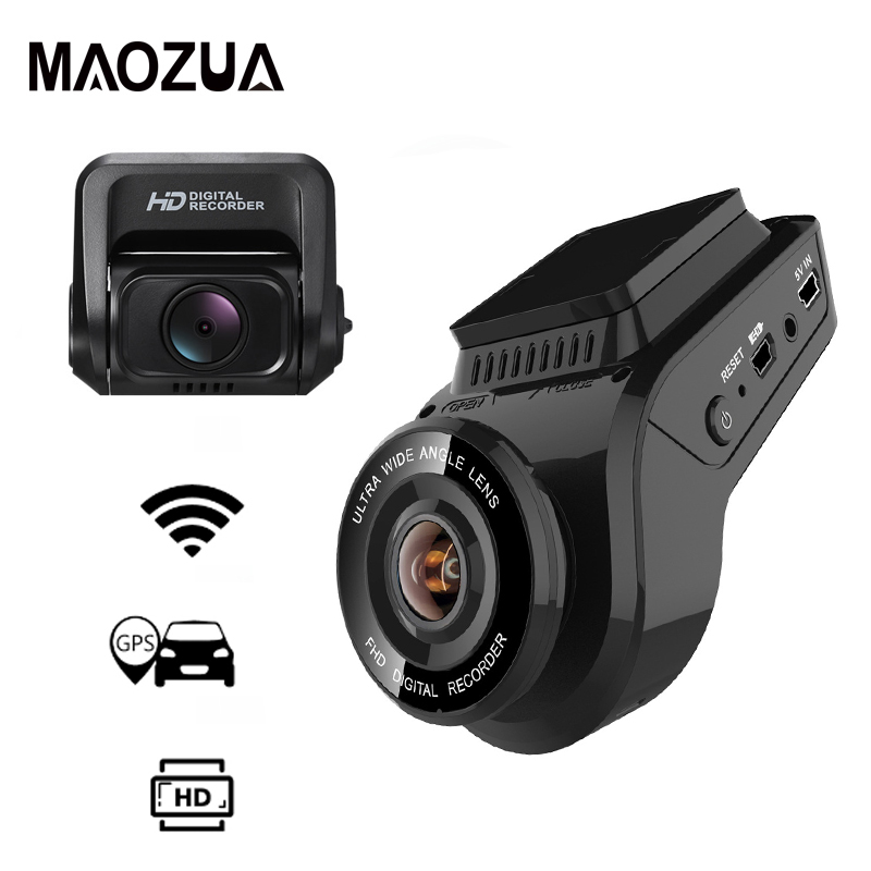 Maozua Car Dash Cam 2160P 4K Ultra HD with 1080P Rear Camera WiFi GPS Logger ADAS Dual Lens Dashcam Car DVR Night VisionMaozua Car Dash Cam 2160P 4K Ultra HD with 1080P Rear Camera WiFi GPS Logger ADAS Dual Lens Dashcam Car DVR Night Vision