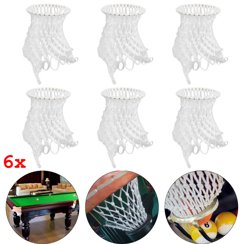 Best Deal 6 Pieces/Lot White Billiard Pool Table Cotton Mesh Net Bags Pockets Club Kit Snooker Accessories Replacement Pouches